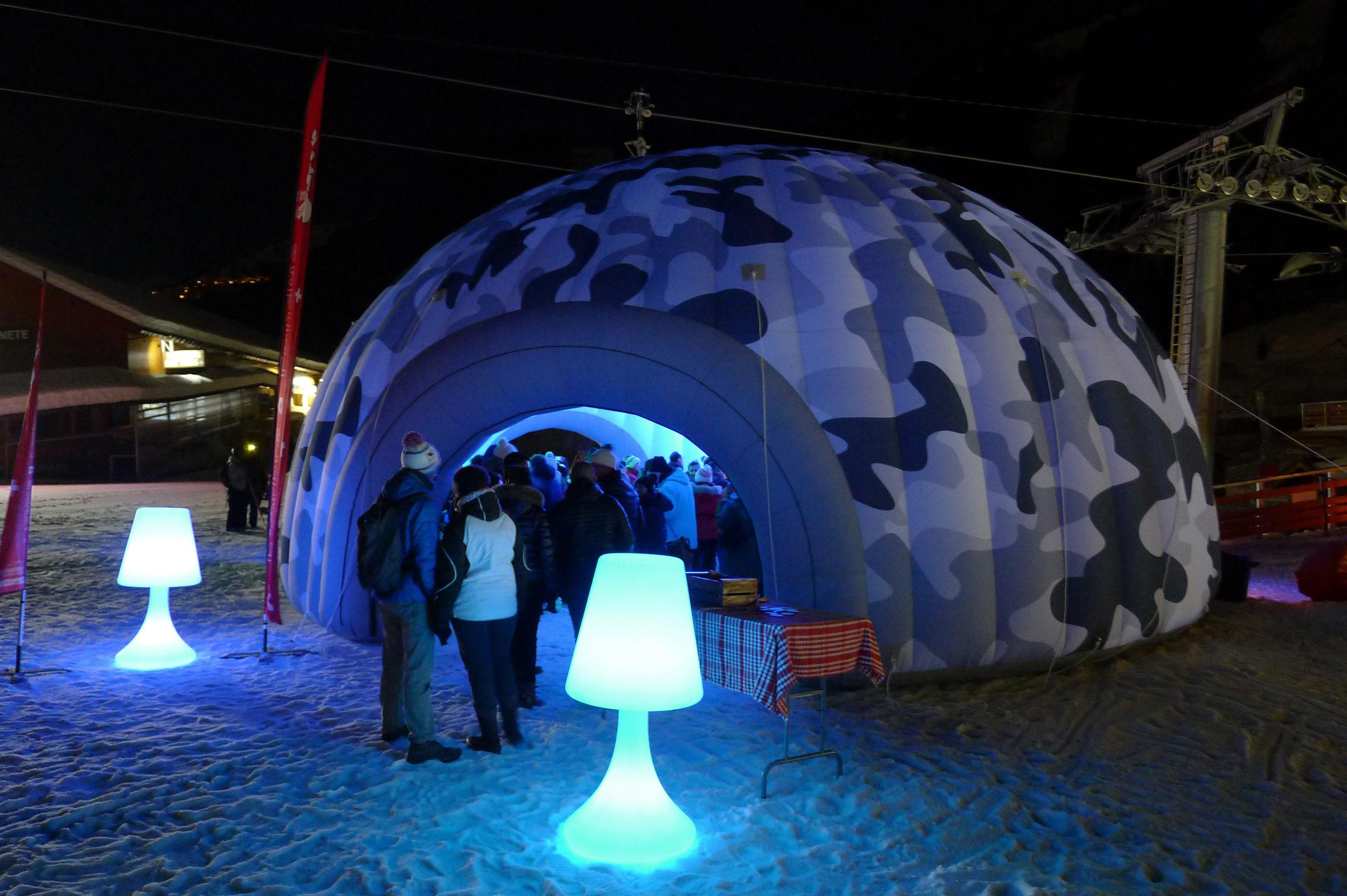 Ce qu'un igloo gonflable peut apporter à votre événement